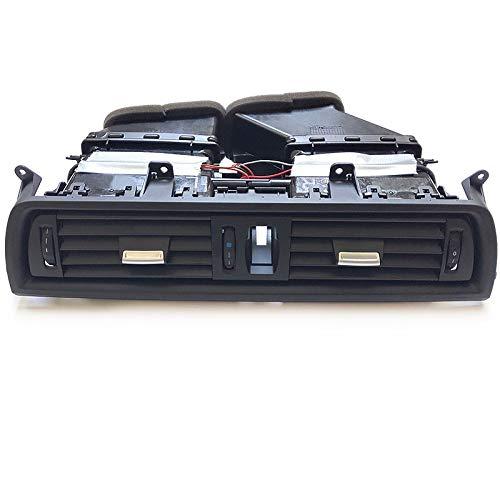 Condizionatore Console Anteriore Dash Air Condizionatore Cromato AC Assemblaggio Completo For BMW 5 Serie F10 F11 F18 64229166885 64229209136 (Color Name : Plain Black Assembly)