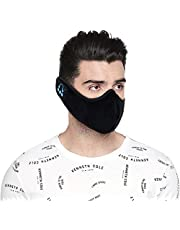 Kenneth Cole Ultra Soft Face Mask with Bluetooth and Built-in Wireless HD Speakers for Music, Phone Calls with Microphone Perfect for Travel, Workout, Jogging, Yoga (Multicolor)