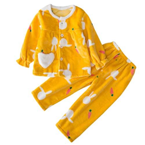 DEBAIJIA Bebé Ropa de Casa 2-12T Infantil Homewear Niños Pijama Niña Ropa de Dormir Niño...