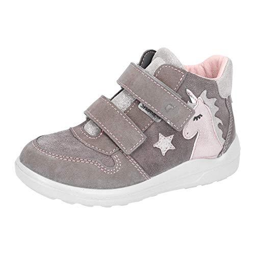 RICOSTA Kinder Stiefel Fanny, Weite: Mittel (WMS),wasserfest, detailreich Freizeit Boots Klettstiefel Leder Kinder Kids,Meteor,26 EU / 8 Child UK
