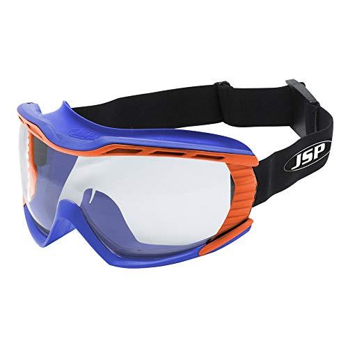 JSP AGS020-54N-800 Stealth 9100 - Occhialini anti-polvere, blu e arancione