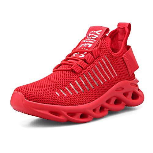 Scarpe Sportive Bambini Respirabile Ragazzi Scarpe da Corsa Ginnastica Interno All'aperto Leggero Running Sneakers Rosso 38