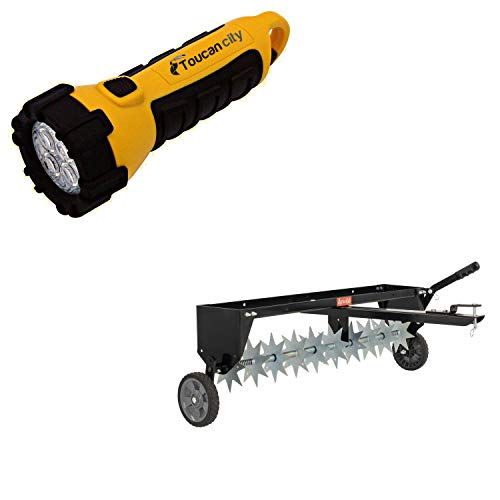 Toucan City LED Flashlight and Agri-Fab 40 in. Tow Spike Aerator 45-0544