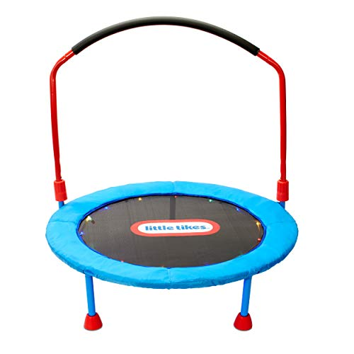 Little Tikes Light-Up 3-Foot Trampoline with Folding Handle for Kids Ages 3 to 6
