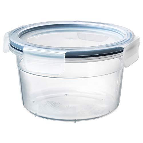 Frischhaltedose mit Deckel, rund, Kunststoff, Schnapp- und Verschlussdeckel, transparent, langlebiger Kunststoff, Produktgröße: Höhe: 9 cm, Durchmesser: 14 cm, Inhalt: 750 ml
