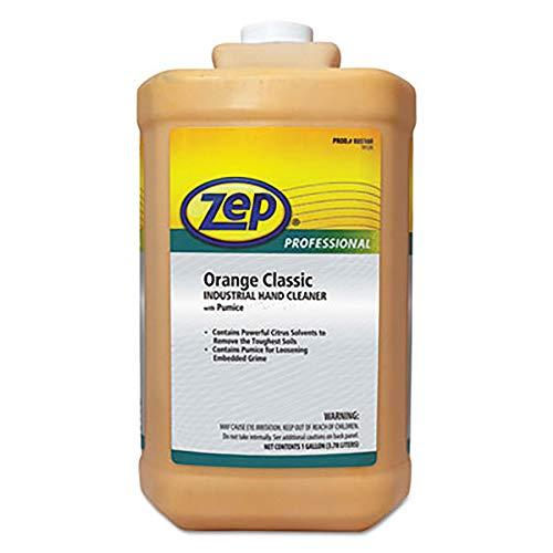 Zep Professional Industrial Hand Cleaner, Gel, Orange, 1 gal Bottle, 4/Carton