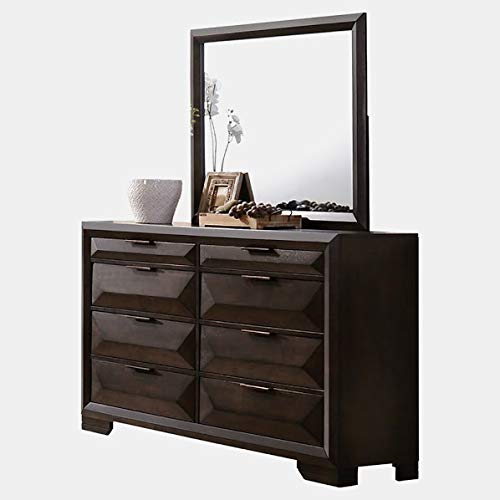 Learn More About Wood Double Dresser with Metal Glides - Dresser with 8 Dovetail Drawers - Espresso