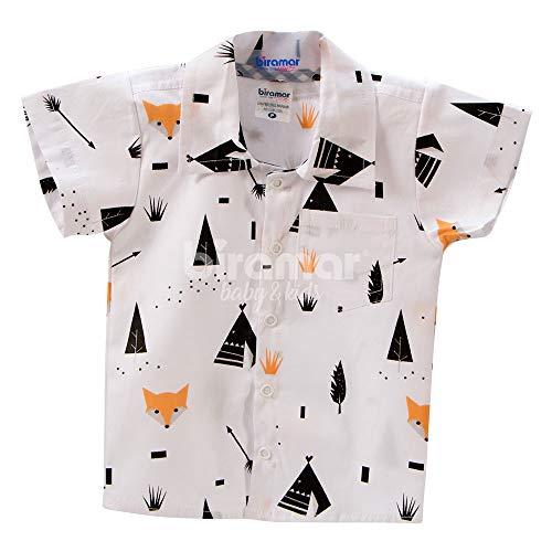 Biramar Baby Camisa para Bebê e Kids Fox, RN, Preto
