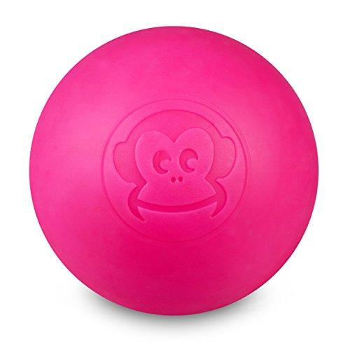 Captain LAX Massageball Original - Lacrosseball in der Farbe Neonpink, aus Hartgummi, mit den Maßen 6 x 6 cm geeignet für Triggerpunkt- & Faszienmassage/Crossfit