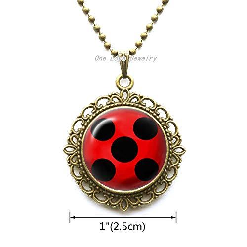 Ni36uo0qitian0ozaap Collar de señora Bug Jewelry, de mariquita, regalo para Little Grand Nephew insecto Animal Charm de plata, regalo TAP208