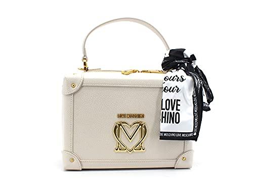 Love Moschino Pre Collezione Autunno Inverno Bolso de Hombro para Mujer, colección otoño-Invierno 2021, Color Blanco, Talla única
