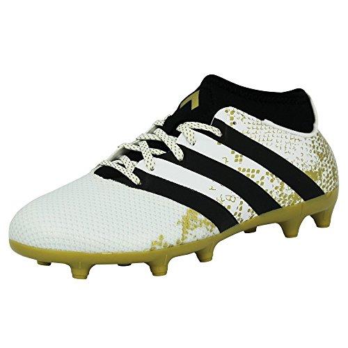 adidas Ace 16.3 Primemesh Fg/AG, Scarpe da Calcio Uomo, Bianco (Ftwr White/Gold Metallic/Core Black), 43 1/3 EU