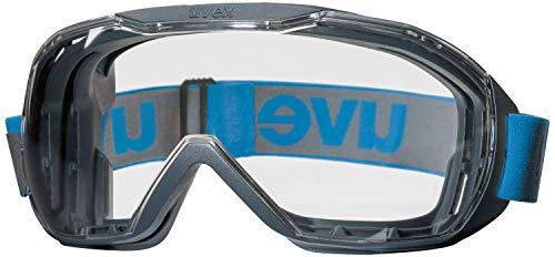Uvex Gafas megasónicas gente que usa gafas, sin niebla y resistentes a los arañazos - Azul / Claro