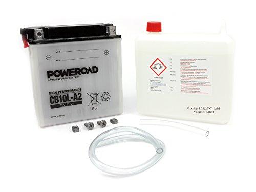 Batterie Poweroad YB10L-A2 11AH für Gilera Kawasaki S u z u k i Y a m a h a