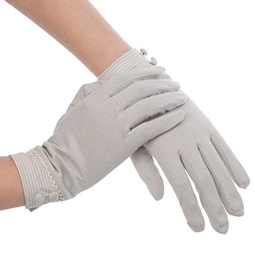 Kenmont Damen Sommer-Handschuhe Baumwolle Sonnenschutz UV für Draußen Autofahrer-Handschuhe Gr. One size, grau