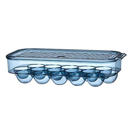 Huevera con tapa de plástico para Huevos Portátil, para guardar huevos, 16 rejillas