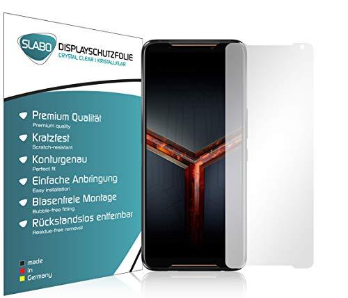 Slabo 4 x Bildschirmschutzfolie für Asus ROG Phone 2 Bildschirmfolie Schutzfolie Folie Zubehör Crystal Clear KLAR