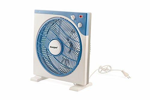 Kooper 2408556 Ventilatore Box, 37 x 41 cm, 45 W, Blu Elettrico