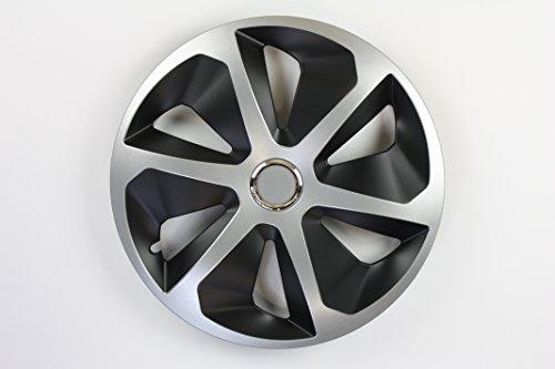 ZentimeX Z744965 Radkappen Radzierblenden universal 13 Zoll Silver Black