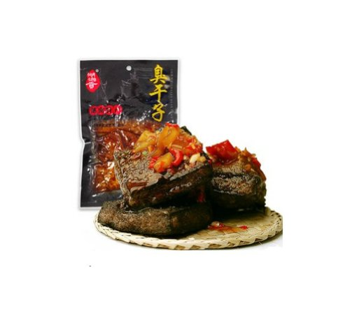 Qyz@ Chinese Leisure Special Snack:hunan Changsha Spicy Flavor Stinky Tofu(80g3pack)