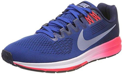 Nike Men's AIR Zoom Structure 21 Running Shoes, Blue (Blue Jay/Obsidian/Solar Red/Glacier Grey), 7 UK 41 EU