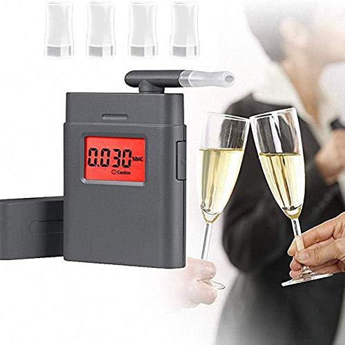 WYJW Adem Analyzer-Draagbare Mini Alcohol Tester met LCD Digitaal Display voor Persoonlijk En Professioneel Gebruik Hoge Precisie Snelle Meting Gereedschap/met 4 Nozzles