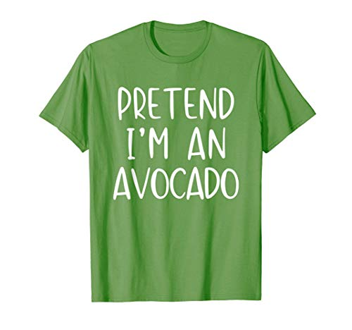 Pretend Avocado Costume Halloween Disfraz De Aguacate Camiseta