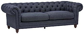 Amazon Brand – Stone & Beam Bradbury Chesterfield Tufted Sofa Couch 92.9 W Navy
