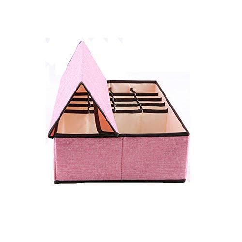 QWERTLH Schubladenorganisatoren BH Unterwäsche Schublade Klappbare Schrankwände Und Faltbare Aufbewahrungsbox,Pink
