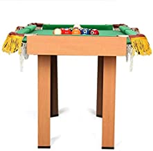 KULZTT Mini Pool Table Premium Tabletop Billiards Mini Snooker Game Set Portable Table Top Pool Table Set with Cues Brush and Triangle Great Gift for Boys and Girls (Size:52x47x93cm)
