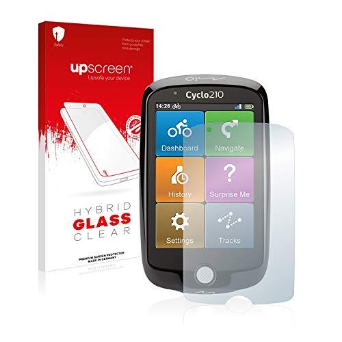 upscreen Hybrid Glass Panzerglas Schutzfolie kompatibel mit Mio Cyclo 210 9H Panzerglas-Folie