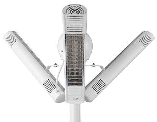 PERFECTCLIME - Radiador y radiador (ultra bajo brillo, 4000 W, IP67, carcasa de color blanco)