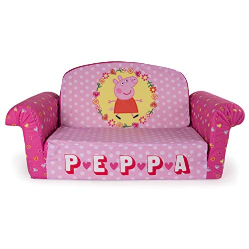 Marshmallow Furniture, Children's 2 in 1 Flip Open Foam Sofa, Peppa Pig, by Spin Master