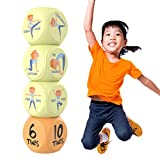 Skywin Kids Yoga Dice - Fun Exercise Dice for Kids Solo or Group Classes, 6-Sided Foam Workout Dice for Home, Classroom and Physical Education Learning