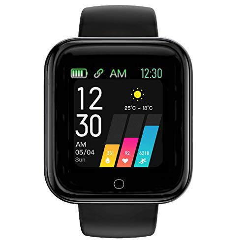 Infinizy (ONLY FOR TODAY 7 YEARS LIMITED WARRANTY) GP-10 Smartwatch Bracelet Fitness Tracker Women Special Fitness Watch 1.3'' Full Touch Men Women Fitness Tracker Blood Pressure Heart Rate Monitor Lite Waterproof Exercise Smartwatch for All Boys, Men, Women, Girls (Rosegold)