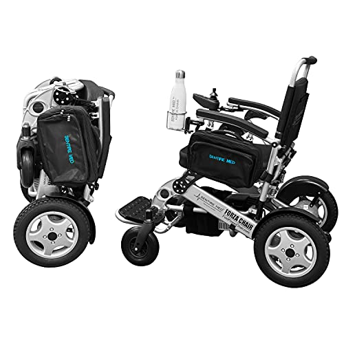 Sentire Med Deluxe Electric Wheelchair for Adults, 600 W Peak Power Motor - Ultra Lightweight Design Foldable, Compact and Portable - Ideal Motorized Mobility Solution for Travel and All Terrain Use