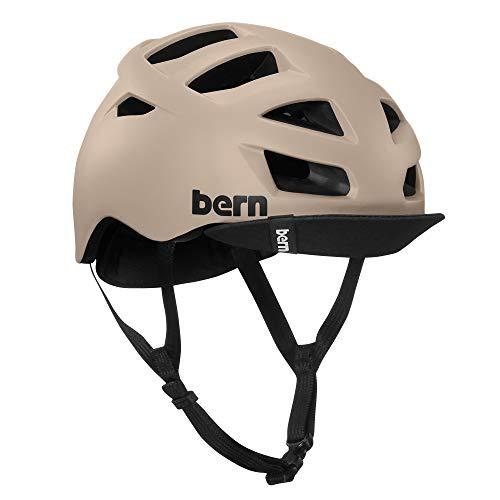 Bern, Allston/Melrose Fahrradhelm Unisex Erwachsene, Herren, BM06Z18MSD3, Sable Mat, L (59-62 cm)