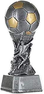 Decade Awards Soccer Team Tower Trophy - Futbol Award - 9 Inch Tall - Engraved Plate on Request