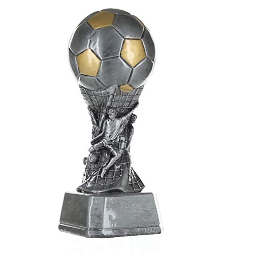 """Crystal Glass FOOTBALL Soccer Trophy 6.75/"""" 8/"""" or 9/"""" FREE ENGRAVING Personalised"""