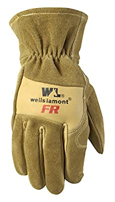 Wells Lamont Men's Flame Resistant Cowhide Split Leather Glove