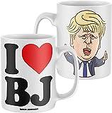 NA I Love Boris Johnson, Taza divertida, regalo para mujeres y hombres, Tories conservador bloqueo electoral, blanco, talla única