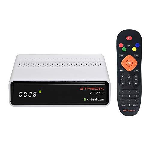 Festnight GTS Android 6.0 TV Box DVB-S/Decodificador Incorporado 2.4G WI-FI BT4.0 Amlogic S905D Reproducción 4K Receptor de TV Soporte Reproductor Multimedia 3D Blanco