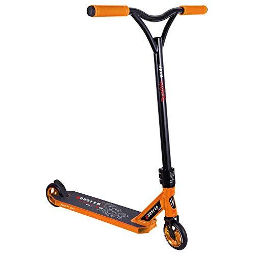 BESTIAL WOLF Booster B18, Scooter Pro, Manillar Negro y Tabla Color (Orange)