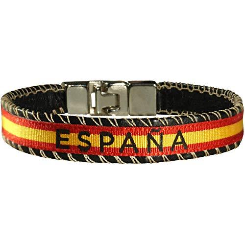 Hand-Pro armband Spaanse vlag Spanje armband stof Spanje Spanje leder armband Spanje vlag Spanje