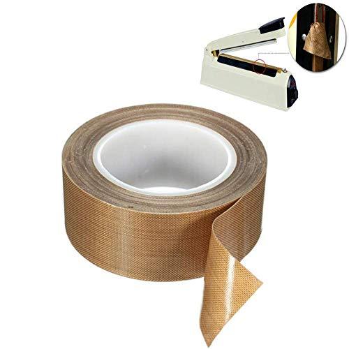 Teflon Band Ptfe Klebeband für Staubsauger Maschine Versiegelung Hand und Impuls Versiegelt Hohe Temperatur Trocknend Förderband - 25mm×10m