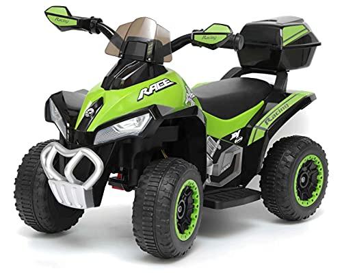 giordano shop Mini Quad Elettrico per Bambini 6V Kid Go Deluxe Verde