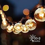 Audex Lichterkette Glühbirnen Retro Außen Wasserdicht G40 Globus Schnur Lichter, (15M / 50FT)