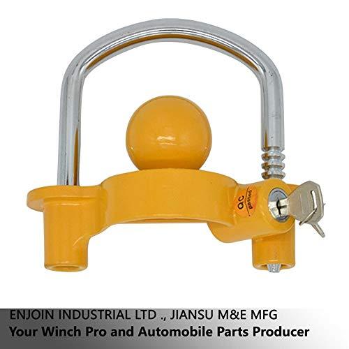 YEXIANG Universal-Anhängerkupplung Sicherheitsschloss Einstellbare Anti-Diebstahl-Lagerung Schleppkupplung mit 2 Schlüsseln-Heavy Duty Design Stahl Bar