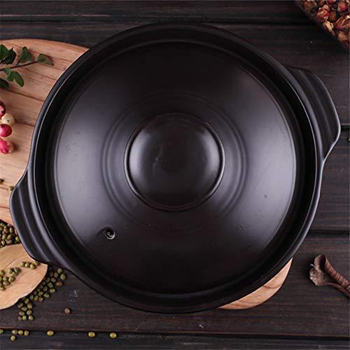 WJXBoos Piano Cottura Pentola in Ceramica Sizzling Hot Pot per Bibimbap E Zuppa Jjiage Cibo Coreano,Ciotola Coreana Dolsot Stone Black 700ml