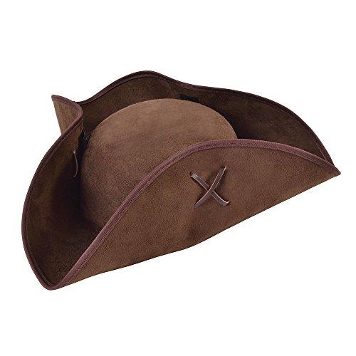 Bristol Novelty BH656 Piraten-Hut aus braunem Wildleder, Unisex-Erwachsene, Einheitsgröße